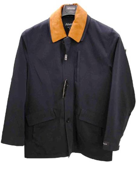 Afazzy Marco Grossi Men S Navy 3 4 Rain Coat Diplomat