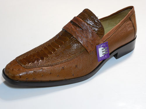 exquisite design lower price with nice shoes DAVID EDEN OSTRICH DRESS LOAFER SHOE FANGIO COGNAC