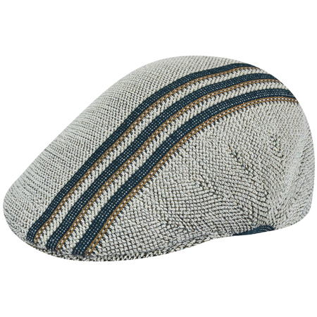 KANGOL SUMMER CAP TRAVEL STRIPE 507 NATURAL 312a45210a7